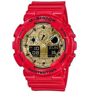 G-SHOCK Gショック ジーショック 限定モデル カシオ CASIO アナデジ 腕時計 レッド ゴールド GA-100VLA-4AJF 国内正規モデル g-supply