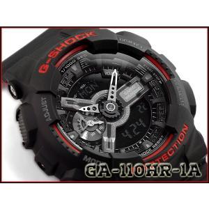 G-SHOCK Gショック 逆輸入海外モデル ブラック&レッドシリーズ 限定モデル CASIO カシオ アナデジ 腕時計 ブラック レッド GA-110HR-1ACR GA-110HR-1A g-supply