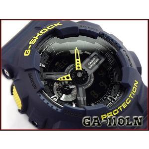 G-SHOCK Gショック ジーショック Layered Neon Color レイヤード・ネオンカラー カシオ CASIO アナデジ 腕時計 イエロー ネイビー GA-110LN-2AER GA-110LN-2A|g-supply
