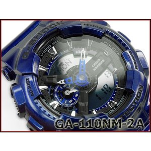 G-SHOCK Gショック ジーショック CASIO カシオ ビッグフェイス アナデジ 腕時計 メタリックブルー GA-110NM-2ACR GA-110NM-2A