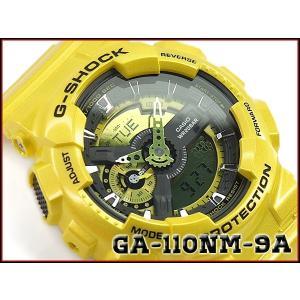 G-SHOCK Gショック 逆輸入海外モデル CASIO カシオ アナデジ 腕時計 イエロー GA-110NM-9ADR GA-110NM-9A|g-supply