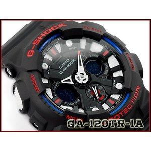 G-SHOCK Gショック カシオ CASIO アナデジ 腕時計 トリコロールカラー ブラック GA-120TR-1ADR GA-120TR-1A