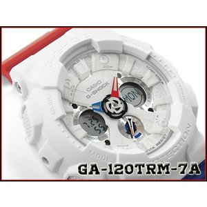 G-SHOCK Gショック カシオ CASIO アナデジ 腕時計 トリコロール ホワイト レッド ブルー GA-120TRM-7ACR GA-120TRM-7A