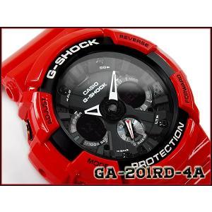 G-SHOCK Gショック カシオ CASIO アナデジ 腕時計 レッド ブラック GA-201RD-4ACR GA-201RD-4A g-supply