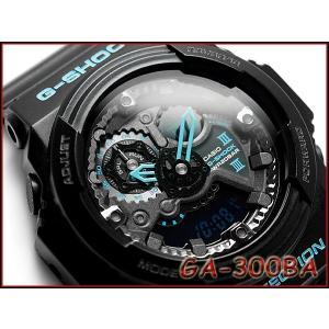 CASIO G-SHOCK カシオ Gショック 逆輸入海外モデル ブラック×ブルーシリーズ アナデジ 腕時計 ブラック ブルー GA-300BA-1A