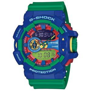 CASIO G-SHOCK カシオ Gショック ジーショック Hyper Colors ハイパーカラーズ アナデジ 腕時計 ブルー グリーン GA-400-2AJF 国内正規モデル|g-supply