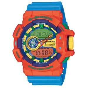 CASIO G-SHOCK カシオ Gショック ジーショック Hyper Colors ハイパーカラーズ アナデジ 腕時計 オレンジ スカイブルー GA-400-4AJF 国内正規モデル|g-supply