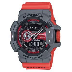 CASIO G-SHOCK カシオ Gショック ジーショック アナデジ 腕時計 グレー レッド GA-400-4BJF 国内正規モデル g-supply