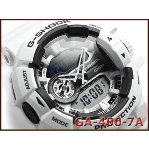 Gショック ジーショック G-SHOCK ハイパーカラーズ カシオ CASIO 逆輸入海外モデル アナデジ 腕時計 ホワイト GA-400-7A|g-supply