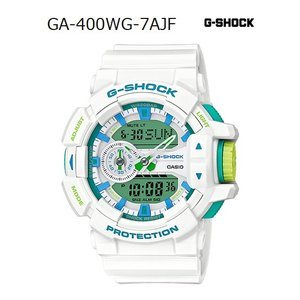 G-SHOCK Gショック ジーショック カシオ CASIO アナデジ 腕時計 ホワイト ミントグリーン ブルー GA-400WG-7AJF 国内正規モデル g-supply
