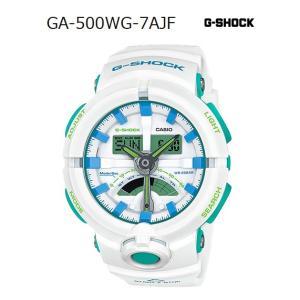 G-SHOCK Gショック ジーショック カシオ CASIO アナデジ 腕時計 ホワイト ミントグリーン ブルー GA-500WG-7AJF 国内正規モデル g-supply