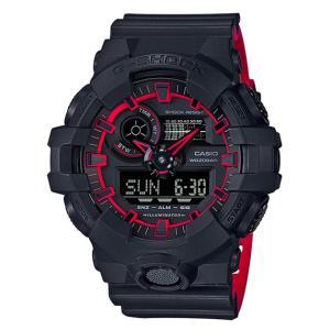 G-SHOCK Gショック ジーショック カシオ CASIO アナデジ 腕時計 ブラック  レッド GA-700SE-1A4JF 国内正規モデル g-supply