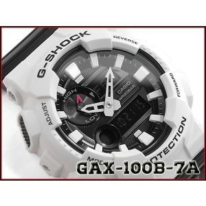 G-SHOCK Gショック ジーショック G-LIDE Gライド 逆輸入海外モデル 2016年モデルカシオ CASIO アナデジ 腕時計 ブラック×ホワイト GAX-100B-7A