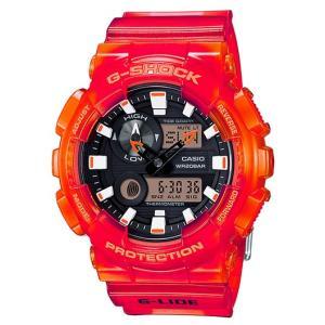 G-SHOCK Gショック ジーショック G-LIDE Gライド カシオ CASIO アナデジ 腕時計 スケルトン レッド オレンジ GAX-100MSA-4AJF 国内正規モデル g-supply