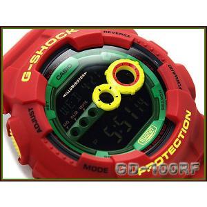 G-SHOCK ジーショック Gショック g-shock gショック ラスタファリアン ラスタカラー GD-100RF-4 G-SHOCK Gショック g-supply