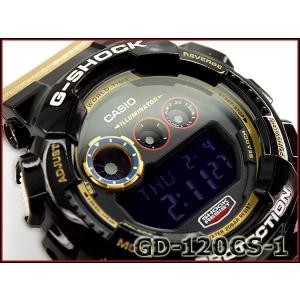 G-SHOCK Gショック ジーショック カシオ CASIO Crazy Colors クレイジーカラーズ デジタル 腕時計 ブラック ゴールド GD-120CS-1CR GD-120CS-1
