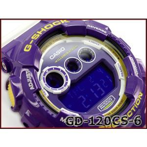 G-SHOCK Gショック ジーショック カシオ CASIO Crazy Colors クレイジーカラーズ デジタル 腕時計 パープル ホワイト GD-120CS-6CR GD-120CS-6|g-supply