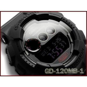 Gショック ジーショック G-SHOCK カシオ CASIO ミリタリーブラック・シリーズ 逆輸入海外モデル デジタル 腕時計 マット オールブラック GD-120MB-1