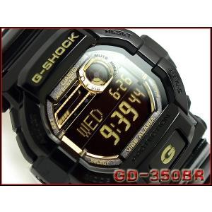 CASIO G-SHOCK カシオ Gショック 海外モデル Garish Gold Series ガリッシュゴールドシリーズ デジタル 腕時計 ブラック ゴールド GD-350BR-1