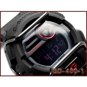 カシオ Gショック ジーショック CASIO G-SHOCK 逆輸入海外モデル デジタル メンズ 腕時計 ブラック レッド GD-400-1CR GD-400-1