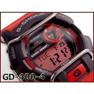 G-SHOCK Gショック ジーショック CASIO カシオ プロテクター デジタル 腕時計 レッド ブラック GD-400-4DR GD-400-4 g-supply