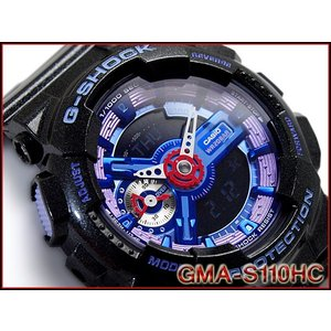 CASIO G-SHOCK カシオ Gショック ジーショック 限定モデル S Series Sシリーズ 逆輸入海外モデル アナデジ 腕時計 パープル ブラック GMA-S110HC-1A