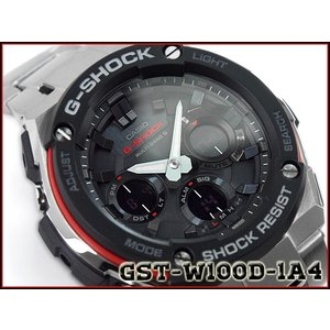 Gショック G-SHOCK カシオ CASIO Gスチール 海外モデル 電波ソーラー アナデジ メンズ 腕時計 シルバー GST-W100D-1A4