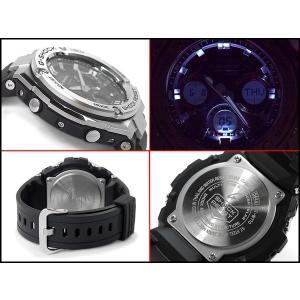 G-SHOCK Gショック Gスチール 海外モデル CASIO ソーラー 電波時計 メンズ 腕時計 ブラック シルバー GST-W110-1A|g-supply|03
