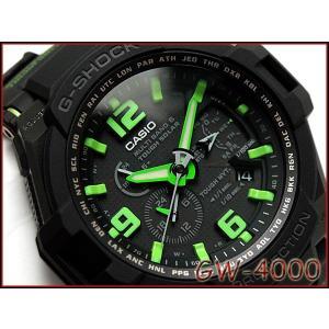 G-SHOCK Gショック ジーショック g-shock gショック SKY COCKPIT 電波ソーラー アナログ 腕時計 ブラック グリーン GW-4000-1A3