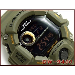 G-SHOCK Gショック ジーショック 電波 ソーラー 腕時計 RANGEMAN レンジマン カーキグリーン ブラック GW-9400-3
