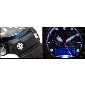 G-SHOCK Gショック ジーショック CASIO ガルフマスター 限定 海外モデル アナデジ 電波 ソーラー メンズ 腕時計 ブルー ブラック GWN-1000B-1B|g-supply|04