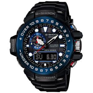 カシオ Gショック ガルフマスター CASIO G-SHOCK GULFMASTER アナデジ 電波 ソーラー 腕時計 メンズ ブルー ブラック  GWN-1000B-1BJF 国内正規モデル