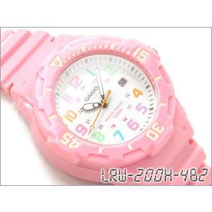 CASIO カシオ 逆輸入海外モデル SPORTS ANALOGUE LADYS スポーツ アナログ レディース腕時計 ピンク ホワイト ウレタンベルト LRW-200H-4B2