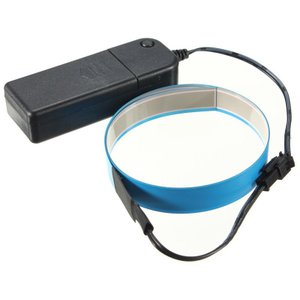 有機EL照明 リボンタイプ (ブルー)(電池ボックスセット)(ショート) g-take-com