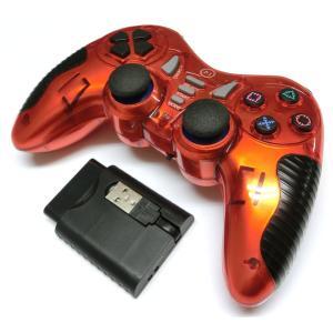 PS2/PS3/PC 連射機能付きワイヤレスコントローラー(レッド) g-take-com