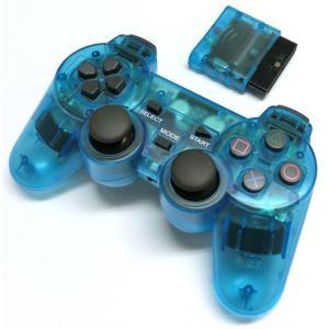 PS2 ワイヤレスコントローラー(クリアブルー) g-take-com