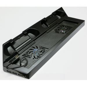 PS4 USBハブ搭載クーリングファンスタンド g-take-com