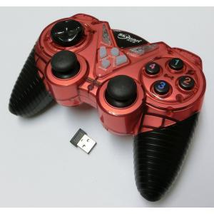 PC/PS3 連射機能付きワイヤレスコントローラー(レッド)|g-take-com