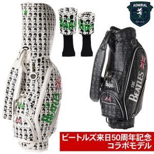 数量限定 アドミラル ゴルフ キャディバッグ 9型 ヘッドカバー付き ADMG7FC6 ビートルズコラボモデル 19sbn|g-zone
