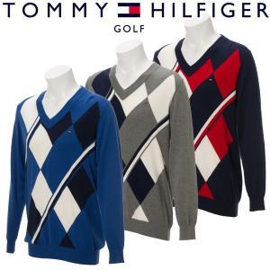 トミーヒルフィガー ゴルフウェア メンズ ニット THMA759 秋冬|g-zone