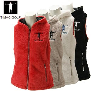 ティーマック レディース ゴルフウェア フリースベスト J60W T-MAC 秋冬|g-zone