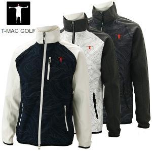 ティーマック メンズ ゴルフウェア トラックジャケット J64 T-MAC 秋冬|g-zone