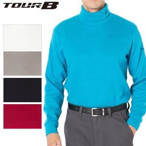 ブリヂストンゴルフ TOUR B ゴルフウェア メンズ 長袖タートルネックシャツ KGM31F 秋冬|g-zone
