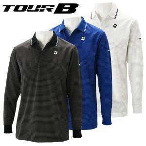 ブリヂストンゴルフ TOUR B ゴルフウェア メンズ 長袖ポロシャツ 1GJM1F 春夏 19sbn|g-zone