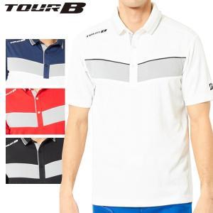 ブリヂストンゴルフ TOUR B ゴルフウェア メンズ 半袖台付ポロシャツ 3GJ02A 春夏 19sbn|g-zone