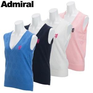アドミラル ゴルフウェア レディース ニットベスト ADLA805 春夏 19sbn|g-zone