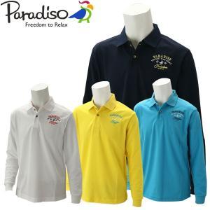 パラディーゾ ゴルフウェア メンズ 長袖シャツ QSM01F PARADISO 2019秋冬|g-zone