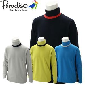 パラディーゾ ゴルフウェア メンズ 長袖シャツ QSM51F PARADISO 2019秋冬|g-zone