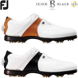 フットジョイ FJ アイコン ブラック ボア ゴルフシューズ メンズ ICON BLACK Boa|g-zone