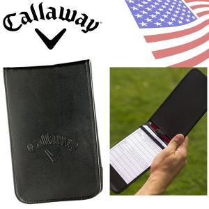 キャロウェイ レザー スコアカード ホルダー C40104 ゴルフ アクセサリー USAモデル|g-zone